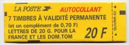 Carnet Neuf ** N° 1503(Yvert) France - Chiffre De Nappe Avec 0.70 F Sur BANDE SUPERIEURE - Usage Courant