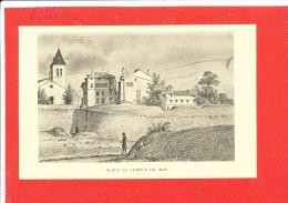 GENEVE Cpa Animée  Place Du Temple En 1846  Imp Atar - GE Ginevra