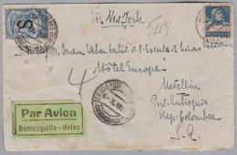 Kolumbien SCADTA 1929-09-13 Wolfhalden CH Nach Medelin 30 C. Mit Aufdruckes - Colombie