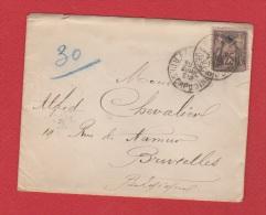 Enveloppe  //  De Paris  //    Pour Bruxelles //  Avril 1892 - Marcophilie (Lettres)