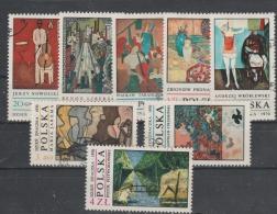 Pologne  1970 Tableau   N°1881 / 88 Oblitéré Série Compl.= 8 Valeurs - Oblitérés