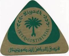 SAUDI ARABIA RIYADH INTER CONTINENTAL HOTEL VINTAGE LUGGAGE LABE