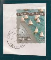 ITALIA REPUBBLICA DINGHY  0,70 2013 USATO SU FRAMMENTO - 2011-...: Usati