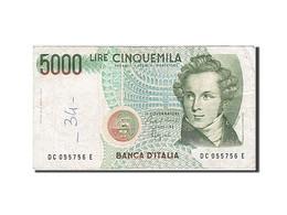 [#257642] Italie, 5000 Lire, Type V. Bellini - 5000 Lire