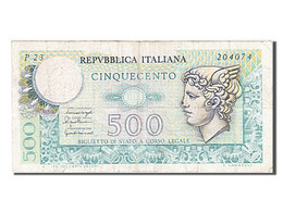 [#256085] Italie, 500 Lire, Type 1976 - [ 2] 1946-… : Républic