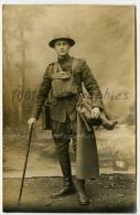 WW1, 14-18 Photo Carte,US Trooper, Miltaire US, Par Un Photographe Ambulant - Foto's