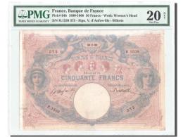 France, 50 Francs, ''Bleu Et Rose'', 1899, KM:64b, PMG VF20 - 1871-1952 Anciens Francs Circulés Au XXème
