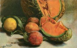 Arts - Peintures & Tableaux - Nature Morte - Fruits - Carlo Chiostri - Italie - Carte Italienne - Bon état Général - Paintings