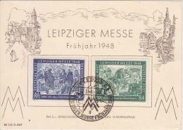 Germany 1948 Postcard, Stamps Soviet Zone      (Red-1158) - Sovjetzone