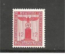 III-Mi.Nr.161/ Dienstmarke 1942, 12 Pfg. Adler ** Jedoch Kleine Verfärbung Im Gummi - Unused Stamps