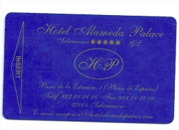 HOTEL ALAMEDA PALACE SALAMANCA , Llave Clef Key Keycard Karte - Etiquetas De Hotel
