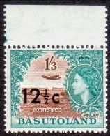BASUTOLAND 1961 SG #65 12½c On 1sh3d MNH OG Opt Type I - Basutoland (1933-1966)