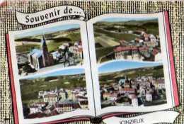 42  JONZIEUX Eglse Groupe Scolaire Centre Vue Generle, Style Livre Ou Album Photos Ouvrt - France