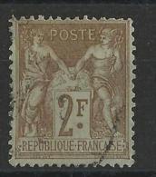 SAGE N/U - YVERT N°105 OBLITERE - COTE = 50 EUROS - 1898-1900 Sage (Type III)