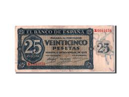 [#304354] Espagne, 25 Pesetas Type 1936 - [ 2] 1931-1936 : Republiek