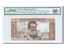 France, 5000 Francs, ''Henri IV'', 1957, KM:135a, PMG VF30 - 1871-1952 Circulated During XXth