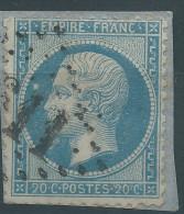 Lot N°28391    Variété/n°22, Oblit GC, Grosse Tache Blanche Face A L'oeil, Point Blanc Entre R Et A De FRANC - 1862 Napoleon III