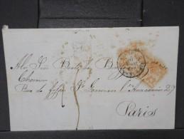 FRANCE-  CAD  D ENTREE DE BOULOGNE SUR MER SUR LETTRE DE PEDRO DIAZ ( Avec Texte) POUR PARIS EN 1848 LOT P3959 - Poststempel (Briefe)