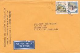 Italy 1997 Cover To Australia Castles 450 Lire And 550 Lire - 6. 1946-.. Republic