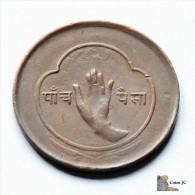 Nepal - 5 Paisa - 1957 - Népal