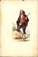 Litho - Ets Gravure - Folklore Klederdracht Costum - Corse - Markaerdt - Estampes & Gravures