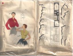 """Patron De Paris """" Chemisier JAVA Et Blouse BE-BOP """" Pour Femme De Taille Manequin 44 à 50 (720)_L38 - Patterns"""