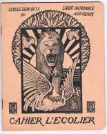 Cahier D´écolier 1919 - Illustr. De G. Combaz, Coll. De La Ligue Nationale Du Souvenir, Le Roi Décorant Willy Coppens - - Buvards, Protège-cahiers Illustrés
