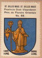 Wapenzegel Koffie Hag / Vignette (Blason, Armoiries) Café Hag : Sint-Gillis-Waas - Old Paper