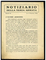 Notiziario Della Terza Armata - Numer 44 - Novembre 1918 - Rif.16671 - Libri, Riviste & Cataloghi