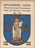 Wapenzegel Koffie Hag / Vignette (Blason, Armoiries) Café Hag :  Nieuwkerken-Waas - Old Paper