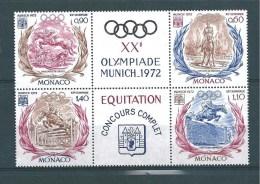 Monaco De 1972  N°890 A 893 Bloc De 4  Neuf ** - Monaco
