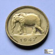 Belgian Congo - 2 Francs - 1947 - Belgique