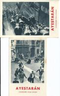 PUB-PUBLICITE-CHAUSSURE-POUR HOMME-AYESTARAN-CALZADOS-PAMPLONA-BILBAO-SAN SEBASTIAN-TAUREAU-TORO- - Espagne
