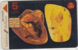 LATVIA - Amber Card, Transparent Telecard, Tirage 34000, Used - Latvia