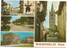 K3847 Bagnolo Piemonte (Cuneo) - Panorama - Vedute - Multipla - Auto Cars Voitures / Viaggiata 1976 - Italië