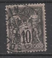 FRANCE - N°YT 89 CACHET A DATE 26.10.1898 - 1877 - COTE YT: 2.00€ - 1876-1898 Sage (Type II)