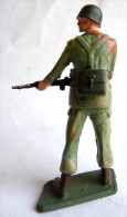 SOLDAT FIGURINE FIG STARLUX 1966 PARA CASQUE Fusil Devant à Droite P8  ARMEE MODERNE - Starlux