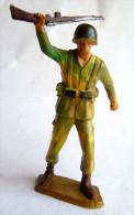 SOLDAT FIGURINE FIG STARLUX 1966 PARA CASQUE MARCHAND FUSIL MAIN (1) P13  ARMEE MODERNE - Starlux