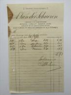 Facture Invoice A Van Der Schueren Gouden Leeuwplein Gent Gand 1912 Laken Camelot - Belgique