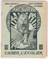 Cahier D´écolier 1919 - Illustr. De G. Combaz, Ligue Nationale Du Souvenir, Nieuport, Ave De La Gare Et Rue Longue - Buvards, Protège-cahiers Illustrés