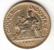 FRANCIA 1929.  50  CENTIMES CHAMBRES DE COMMERCE  EBC (SUP)  CN4305 - G. 50 Centimes