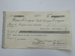 Facture Invoice Reçu Usines D'Evergem 1913 Gent Gand - Belgique