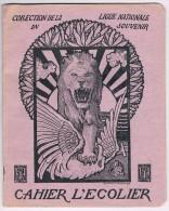 Cahier D´écolier 1919 - Illustr. De G. Combaz, Coll. De La Ligue Nationale Du Souvenir, Le Général Pétain à Verdun - Buvards, Protège-cahiers Illustrés
