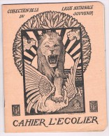 Cahier D´écolier 1919 - Illustr. De G. Combaz, Coll. De La Ligue Nationale Du Souvenir, Le Roi à La Chambre - Buvards, Protège-cahiers Illustrés