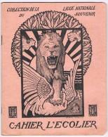 Cahier D´écolier 1919 - Illustr. De G. Combaz, Coll. De La Ligue Nationale Du Souvenir, Poste Avancé Aux Aguets - Buvards, Protège-cahiers Illustrés