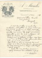 COURRIER A. MANDIS FABRIQUE DE CADIS à CASSENEUIL (LOT ET GARONNE) 1919 - France