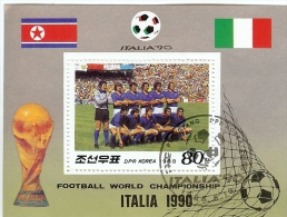 LBR35 - KOREE DU NORD BF ITALIA '90 OBITERE - Corée Du Nord