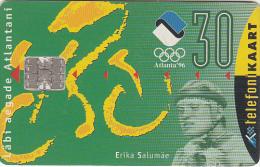 ESTONIA - Erika Salumae/Atlanta 96 Olympics, 03/96, Used - Jeux Olympiques