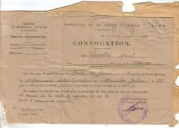 IMPRIME EN FRANCHISE MINISTERE SANTE - CONVOCATION ORLEANS 13/02/46 RAPATRIE POUR EXAMEN AVEC 2 BONS TRANSPORT ALLER RET - 1921-1960: Modern Period
