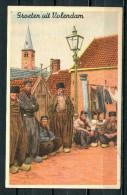 """CPSM Color Künstlerkarte  Niederlande Volendam """"Groeten Uit Volendam,belebt """"1 AK Blanco - Europe"""
